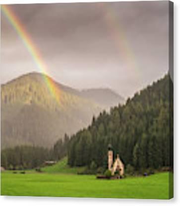 Rainbow Over St  Johann Canvas Print by James Billings