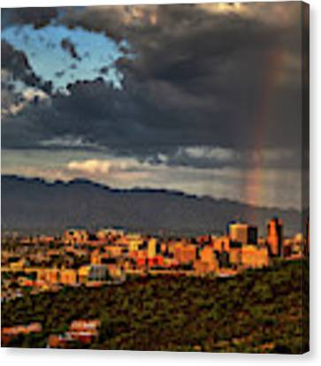 Rainbow Over Tucson Canvas Print by Chance Kafka
