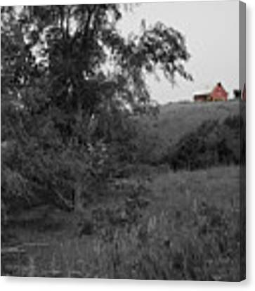 Red Barn Hill Canvas Print by Dylan Punke
