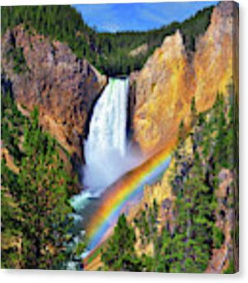 Red Rock Rainbow Canvas Print by Greg Norrell