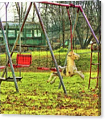 Retro Backyard Play  Canvas Print by JAMART Photography