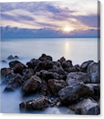 Rocky Beach At Sunset II Canvas Print by Brian Jannsen