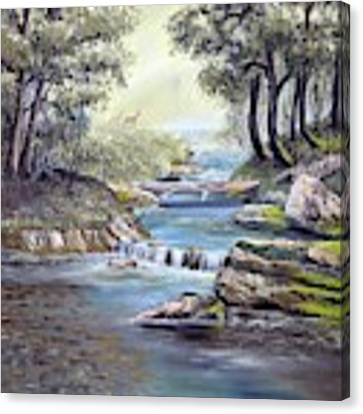 Rocky Stream Canvas Print by Deleas Kilgore