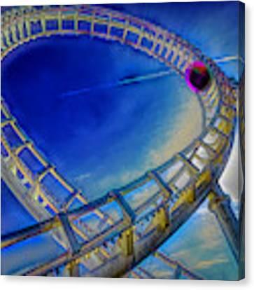Roller Coaster Ocean City Md Canvas Print by Paul Wear