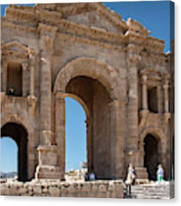 Roman Arched Entry Canvas Print by Mae Wertz