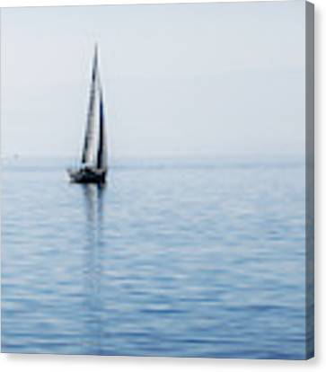 Sailing Into The Mists Canvas Print by Jeremy Hayden