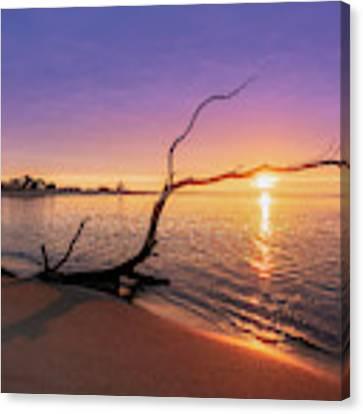 Salisbury Beach Sunrise Canvas Print by Michael Hubley