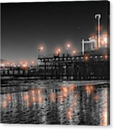 Santa Monica Glow By Mike-hope Canvas Print by Michael Hope