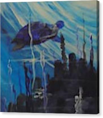 Sea Turtle Canvas Print by Saundra Johnson