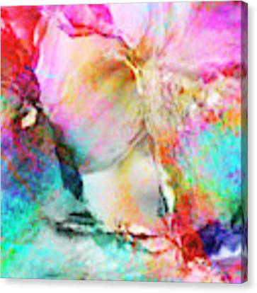 Somebody's Smiling - Custom Version 3 - Abstract Art Canvas Print by Jaison Cianelli
