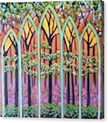 Spring Cathedral Canvas Print by Jeanette Jarmon