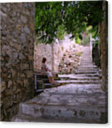 Steps And Stones Canvas Print by Micki Findlay