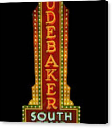 Studebaker Neon Sign Canvas Print by Susan Rissi Tregoning