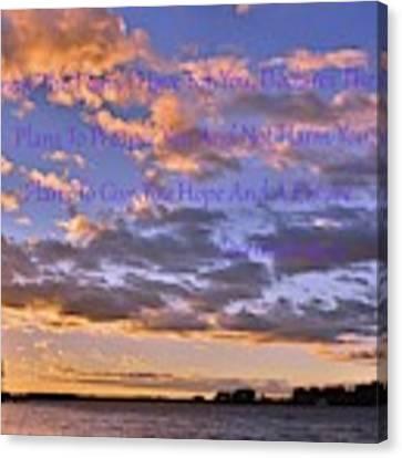 Sunrise Sky Jeremiah 29 11 Canvas Print by Lisa Wooten