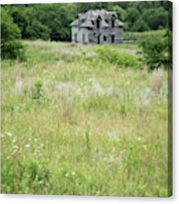 The Abandoned Farm In Summer Canvas Print by Mary Lee Dereske