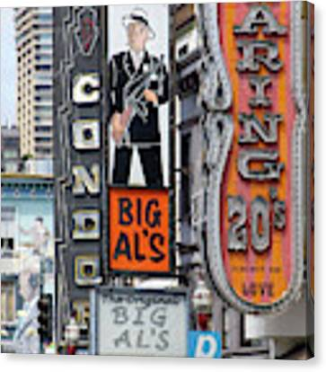 The Condor The Original Big Als And Roaring 20s Adult Strip Clubs On Broadway San Francisco R466 Canvas Print by Wingsdomain Art and Photography