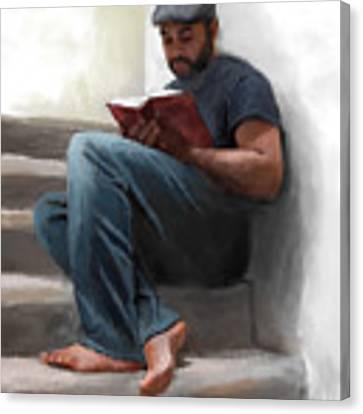 The Good Book Canvas Print by Dwayne Glapion