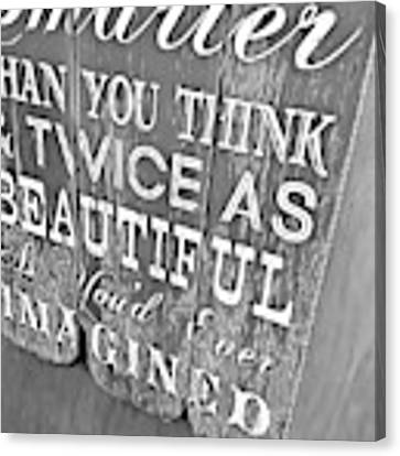 Think On It Canvas Print by JAMART Photography
