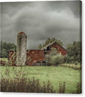 Threatening Skies Canvas Print by Judy Hall-Folde
