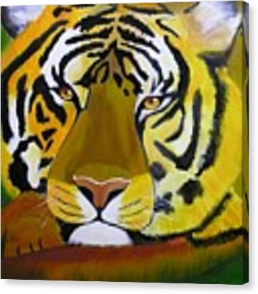 Tiger Canvas Print by Jim Lesher
