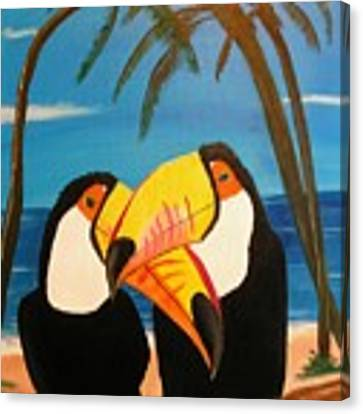 Toucan Love Canvas Print by Jim Lesher