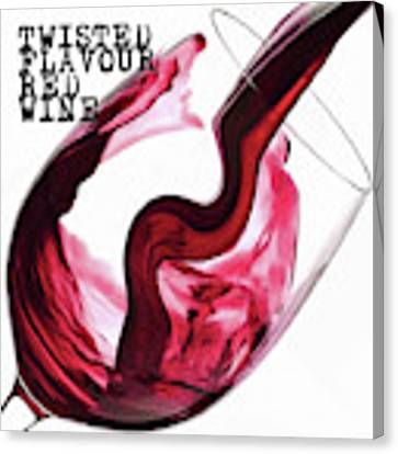 Twisted Flavour Red Wine Canvas Print by ISAW Company