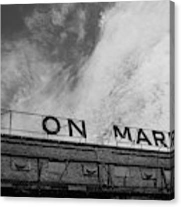 Union Market The Original Sign Washington Dc Canvas Print by Edward Fielding