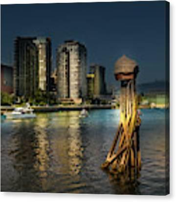 Vancouver Sunset Canvas Print by Juan Contreras
