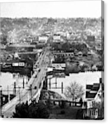 View East Over Olympia 1921 Canvas Print by Merle Junk