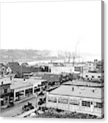 View Nw Over Olympia From Elks Building On Capitol Way 1929 Canvas Print by Vibert Jeffers