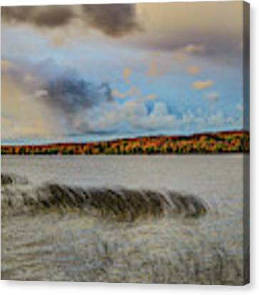 Waterery Grass And Fall Color Dsc_0659 Canvas Print by Michael Thomas