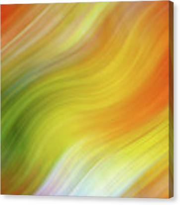Wavy Colorful Abstract #4 - Yellow Green Orange Canvas Print by Patti Deters