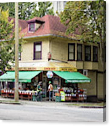West End Grocery Store Canvas Print by Juan Contreras