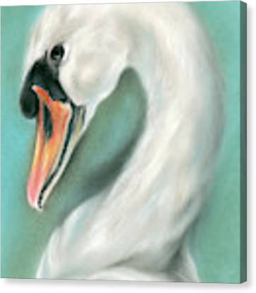 White Swan Portrait Canvas Print by MM Anderson