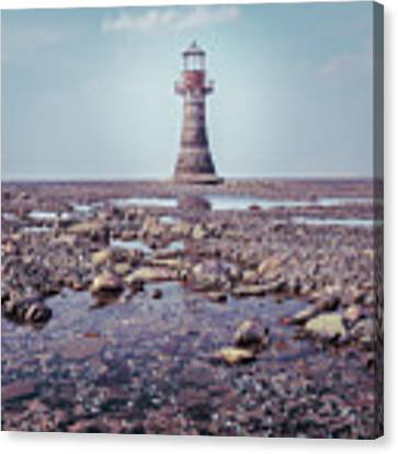 Whiteford Point Lighthouse Canvas Print by Elliott Coleman