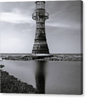 Whiteford Point Lighthouse Reflections Canvas Print by Elliott Coleman