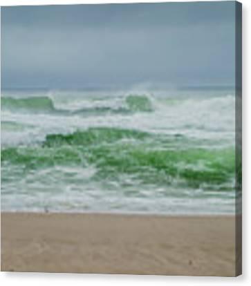 Wild Waves Canvas Print by Judy Hall-Folde