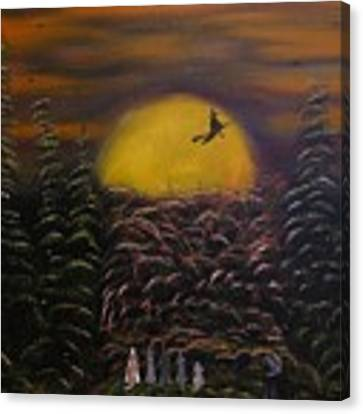 Witch At Night Canvas Print by Jim Lesher