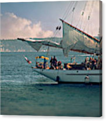 Wooden Boat Festival Canvas Print by Micki Findlay