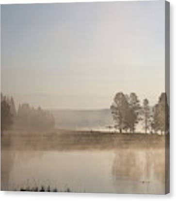 Yellowstone River Early Morning Canvas Print by Jean Clark