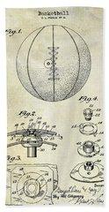 1927 Basketball Patent Drawing Hand Towel