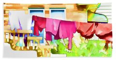 A Summer's Day - Digital Art Bath Towel by Robyn King
