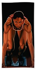 Allyson Felix Painting  Bath Towel
