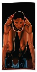 Allyson Felix Painting  Hand Towel