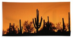 Arizona Sagurao Sunset Bath Towel by Tom Janca
