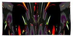 Artistic Abstract Vision Using Flowers And Plants Photography For Conversion For Digital Painting A Bath Towel