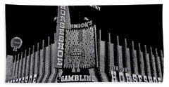 Binion's Horseshoe Casino Exterior Casino Center Las Vegas Nevada 1979-2014 Bath Towel