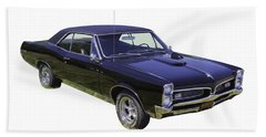 Black 1967 Pontiac Gto Muscle Car Bath Towel by Keith Webber Jr