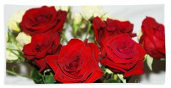 Bouquet Of Roses Hand Towel by Oksana Semenchenko