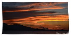Burning Sky Bath Towel by Michelle Meenawong